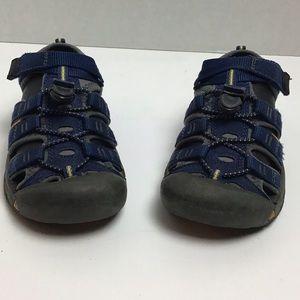 Keen blue outdoor waterproof trail sandals. 12